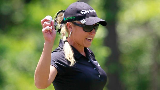 Natalie Gulbis during the final round of the Mobile Bay LPGA Classic