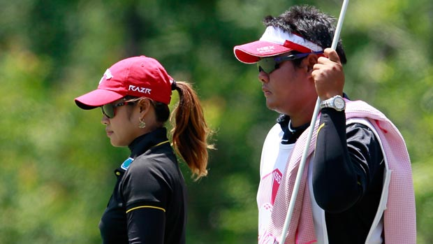 Pornanong Phatlum during the final round of the Mobile Bay LPGA Classic