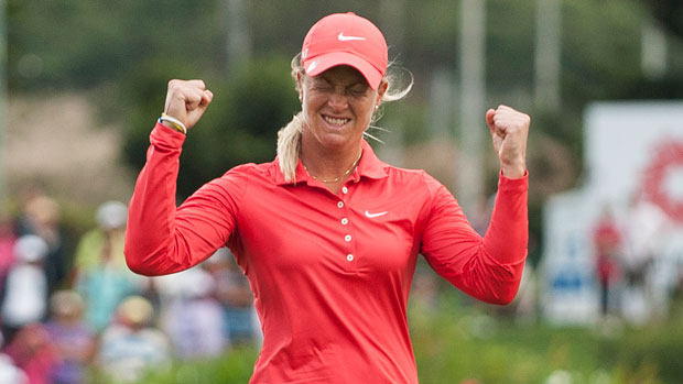 Suzann Pettersen after her win at the 2012 Sunrise LPGA Taiwan Championship Presented by Audi