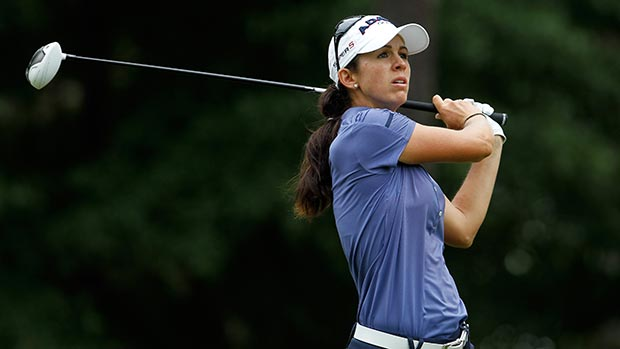 Nicole Castrale during the second round of the Mobile Bay LPGA Classic