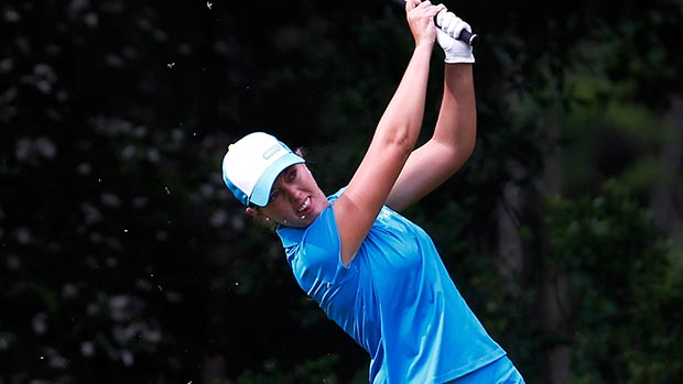 Paz Echeverria during the second round of the Mobile Bay LPGA Classic
