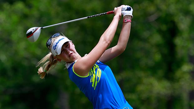Jessica Korda during the second round of the Mobile Bay LPGA Classic