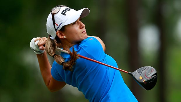 Azahara Munoz during the second round of the Mobile Bay LPGA Classic