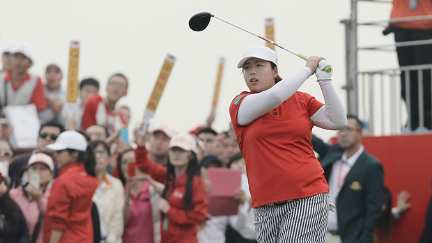Shanshan Feng during the final round of the 2013 Reignwood LPGA Classic.