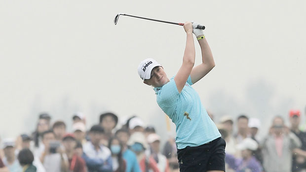Stacy Lewis during the final round of the 2013 Reignwood LPGA Classic