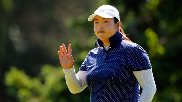 Shanshan Feng during the second round of the 2013 ShopRite LPGA Classic Presented by Acer