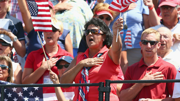 Nancy Lopez during the final day singles matches at the Solheim Cup