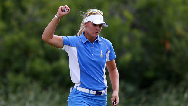 Anna Nordqvist during the final day singles matches at the Solheim Cup