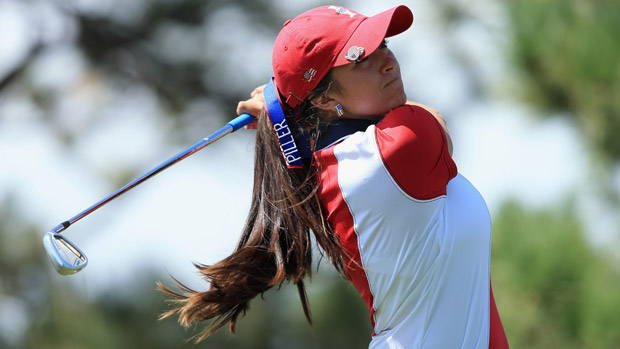 Gerina Piller during the final day singles matches at the Solheim Cup