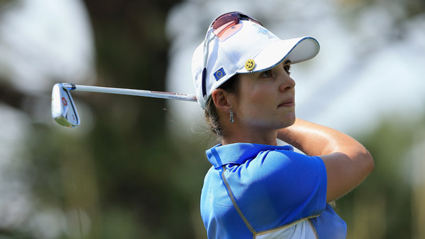 Beatriz Recari during the final day singles matches at the Solheim Cup
