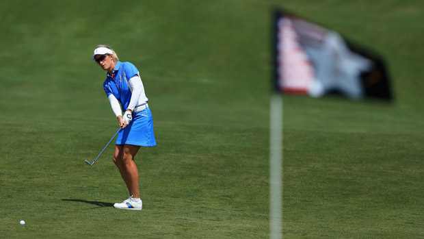 Giulia Sergas during the final day singles matches at the Solheim Cup
