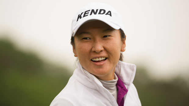 Candie Kung during the second round of the Sunrise LPGA Taiwan Championship