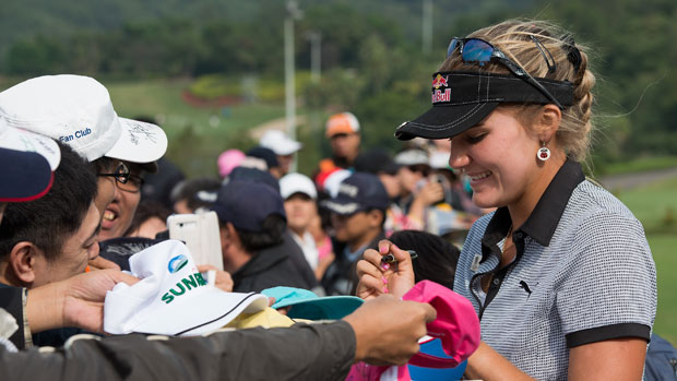 Lexi Thompson during the second round of the Sunrise LPGA Taiwan Championship