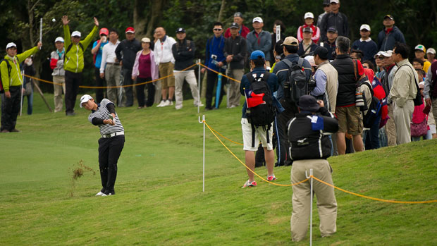 Yani Tseng during the second round of the Sunrise LPGA Taiwan Championship