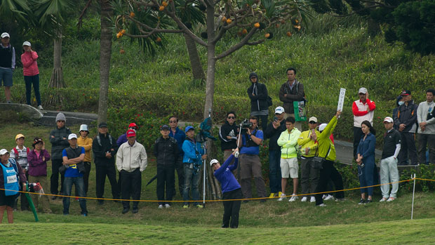 Alison Walshe during the second round of the Sunrise LPGA Taiwan Championship