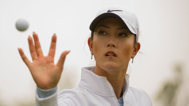 Michelle Wie during the second round of the Sunrise LPGA Taiwan Championship
