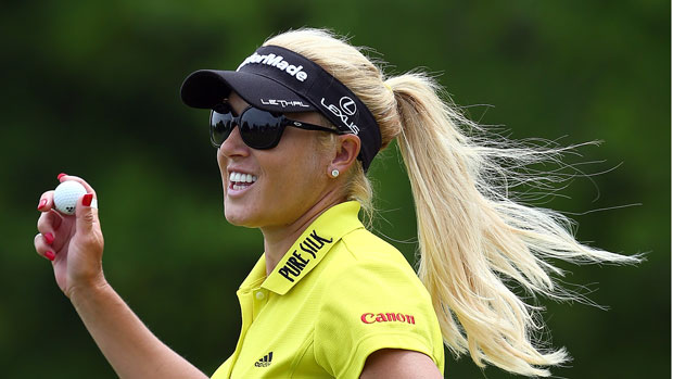 Natalie Gulbis during the second round at the 2013 North Texas LPGA Shootout