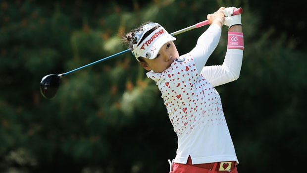 Chie Arimura during the final round of the 2013 Wegmans LPGA Championship