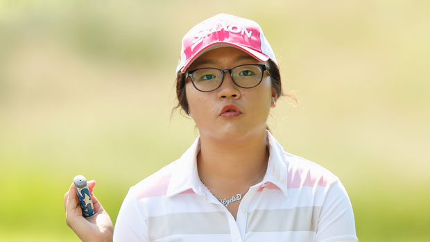 Lydia Ko during the final round of the 2013 Wegmans LPGA Championship