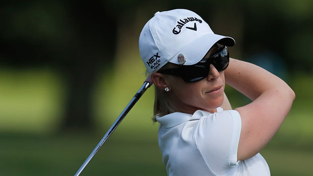 Morgan Pressel during the final round of the 2013 Wegmans LPGA Championship