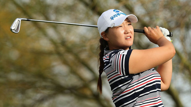 Mi Rim Lee during the first round of the 2014 JTBC Founders Cup