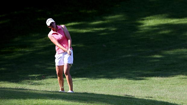 Nicole Castrale during the second round of the HSBC Women's Champions 2013