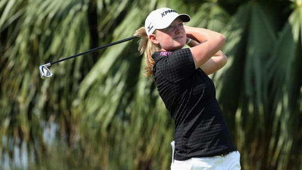 Stacy Lewis during the second round of the HSBC Women's Champions 2013