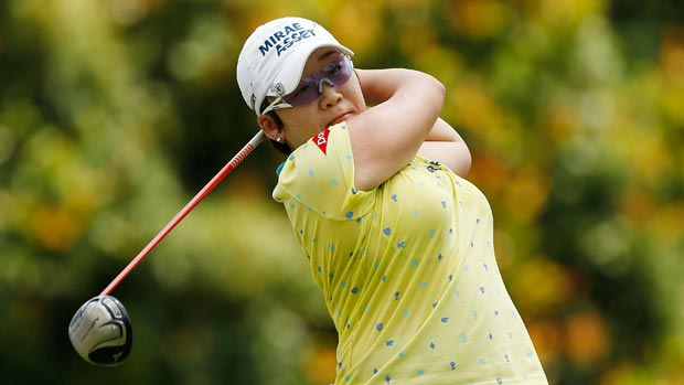 Jiyai Shin during the second round of the HSBC Women's Champions 2013