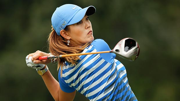 Michelle Wie during the second round of the Lorena Ochoa Invitational Presented by Banamex