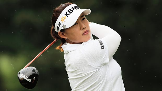 Amy Yang during the second round of the Lorena Ochoa Invitational Presented by Banamex