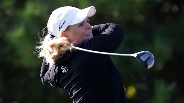 Caroline Hedwall during the final round of LPGA KEB • HanaBank Championship