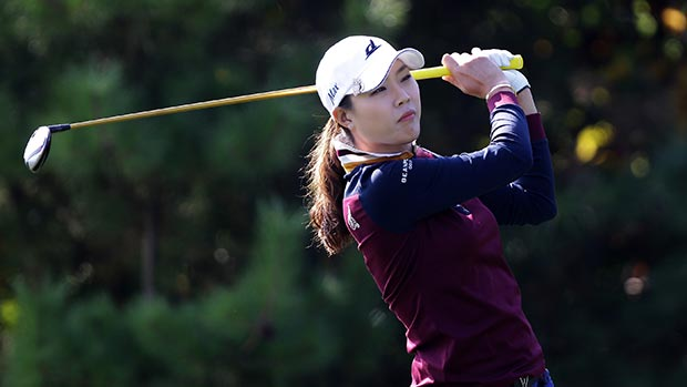 Hee-Kyung Seo during the final round of LPGA KEB • HanaBank Championship