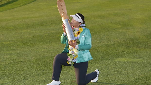Amy Yang during the final round of LPGA KEB • HanaBank Championship