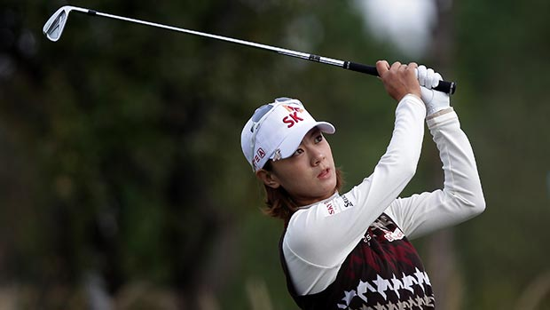 Na Yeon Choi during the second round of LPGA KEB • HanaBank Championship