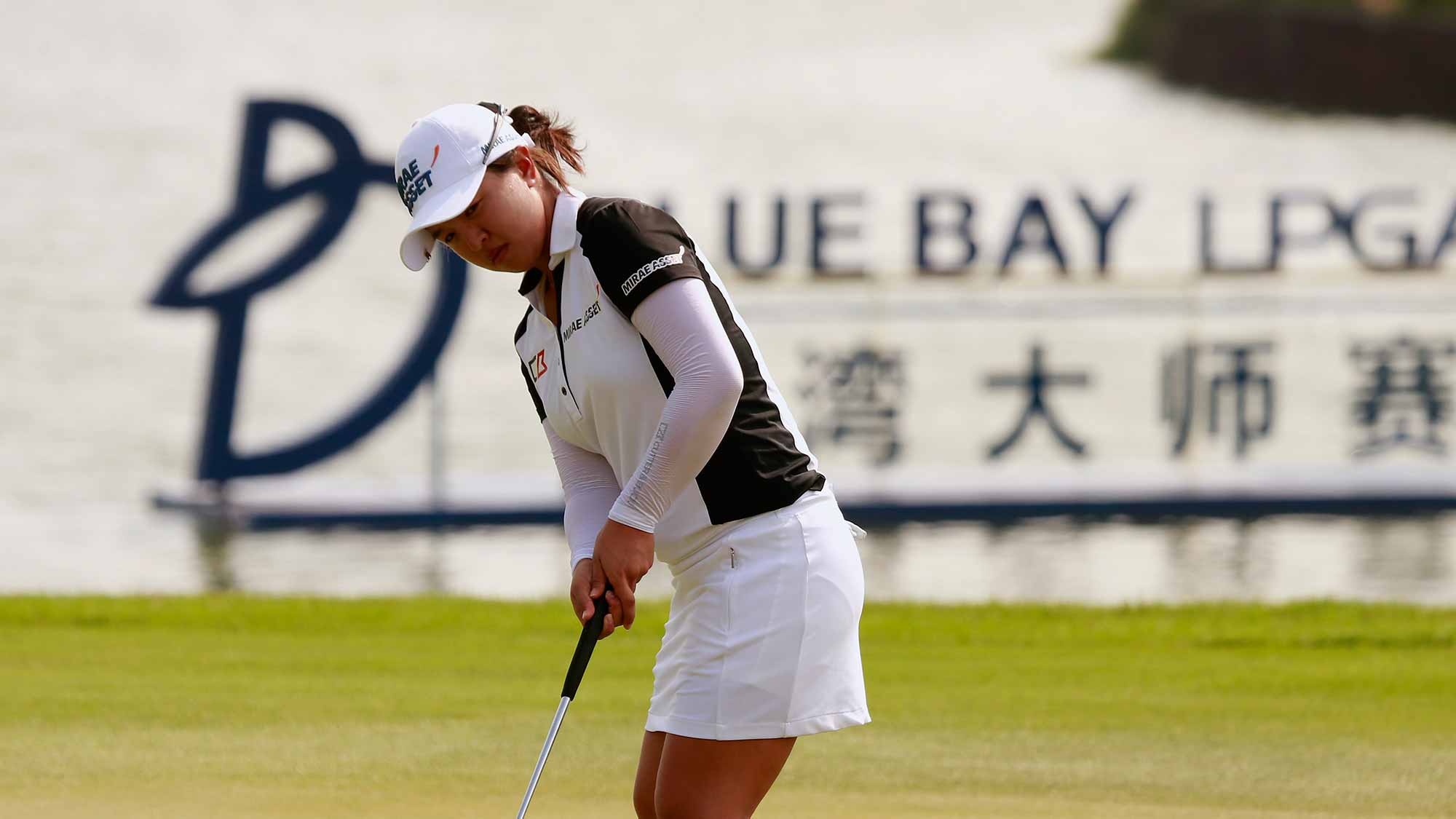 Sei Young Kim of Republic of Korea putts at the 18th green during Round 3 of Blue Bay LPGA of Day 3