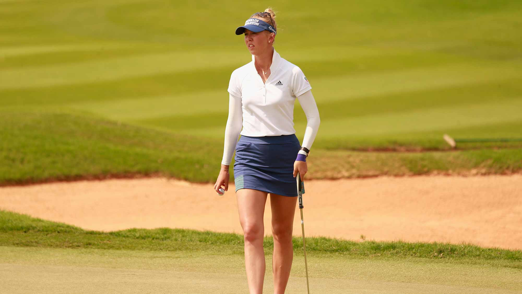 Jessica Korda of United States in action during the final round of Blue Bay LPGA on Day 4