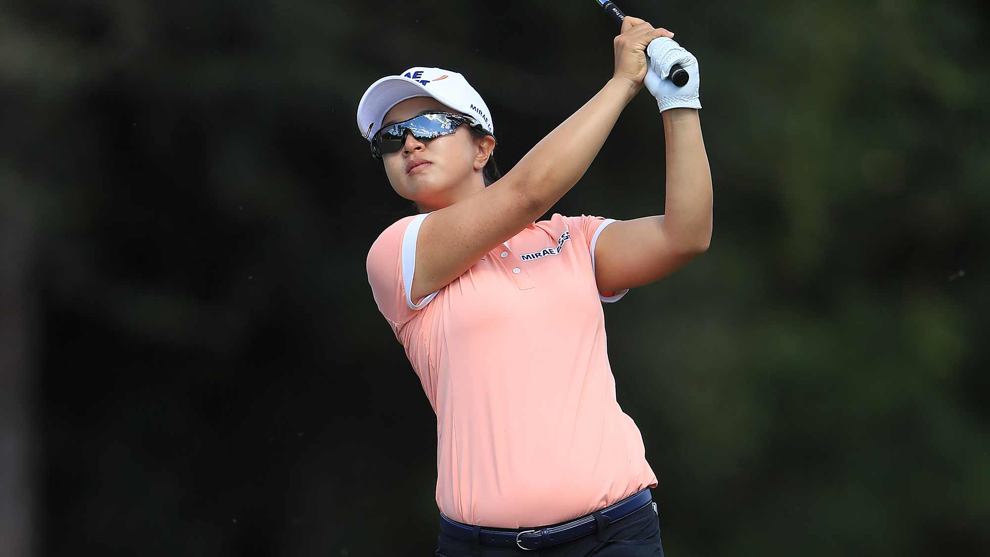Sei Young Kim of South Korea plays a shot on the sixth hole during the second round of the CME Group Tour Championship at Tiburon Golf Club on November 22, 2019 in Naples, Florida
