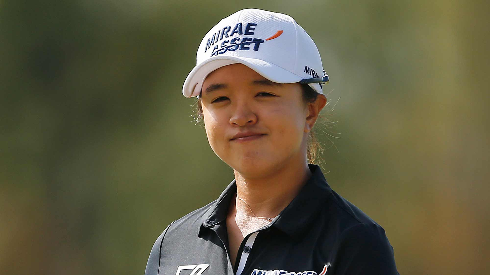 Sei Young Kim of South Korea reacts after a putt on the first green during the final round of the CME Group Tour Championship at Tiburon Golf Club on November 24, 2019 in Naples, Florida