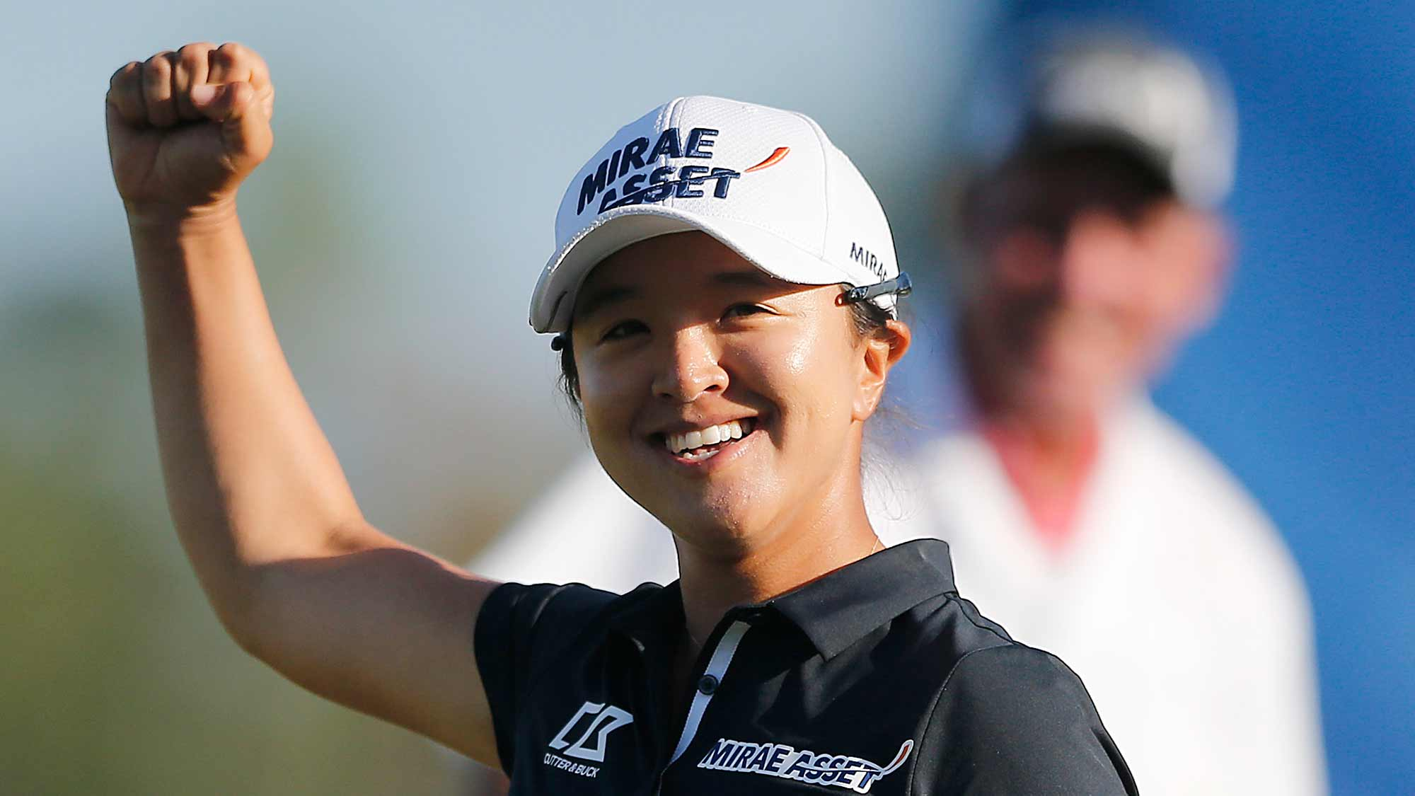 Sei Young Kim of South Korea celebrates after making a putt on the 18th green to win the CME Group Tour Championship at Tiburon Golf Club on November 24, 2019 in Naples, Florida