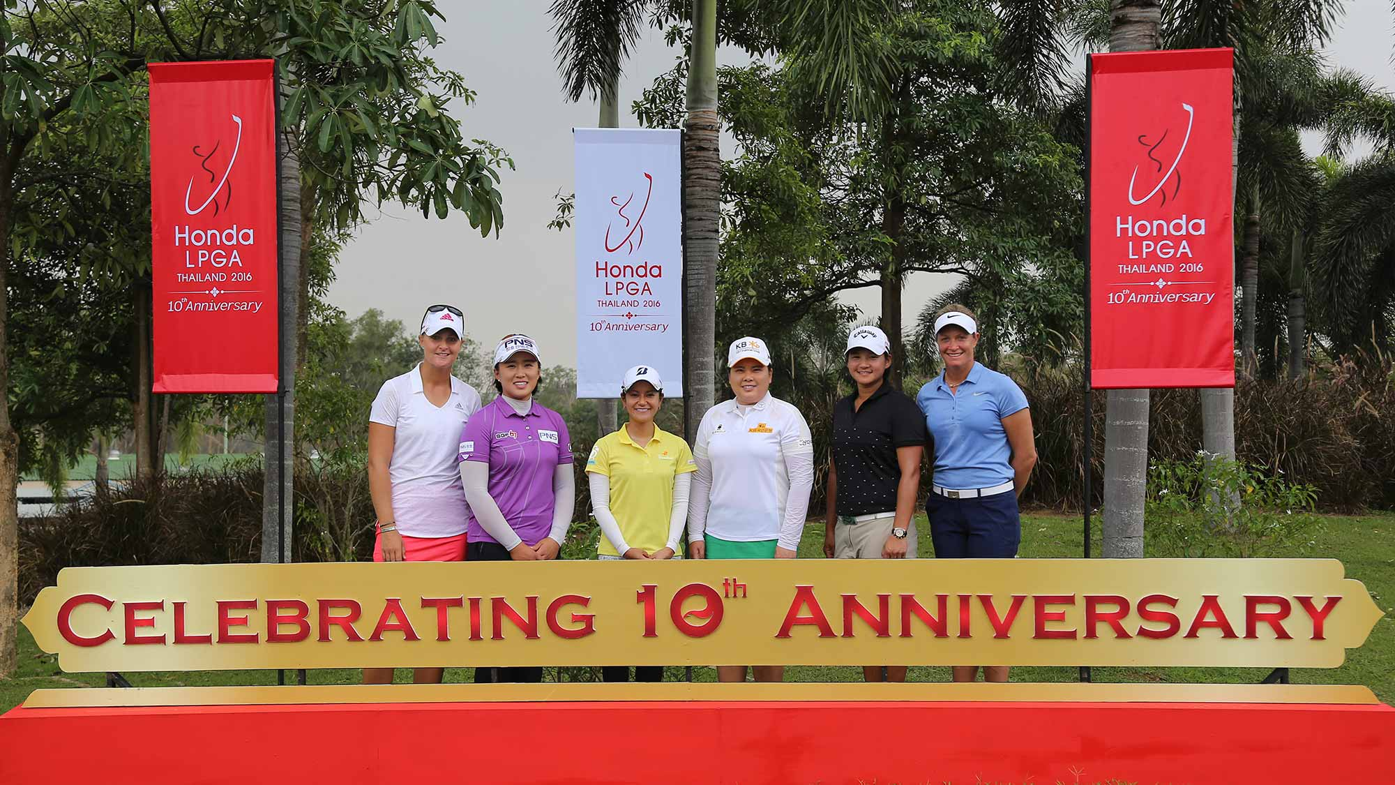 Players Celebrate the 10th Anniversary of the Honda LPGA Thailand
