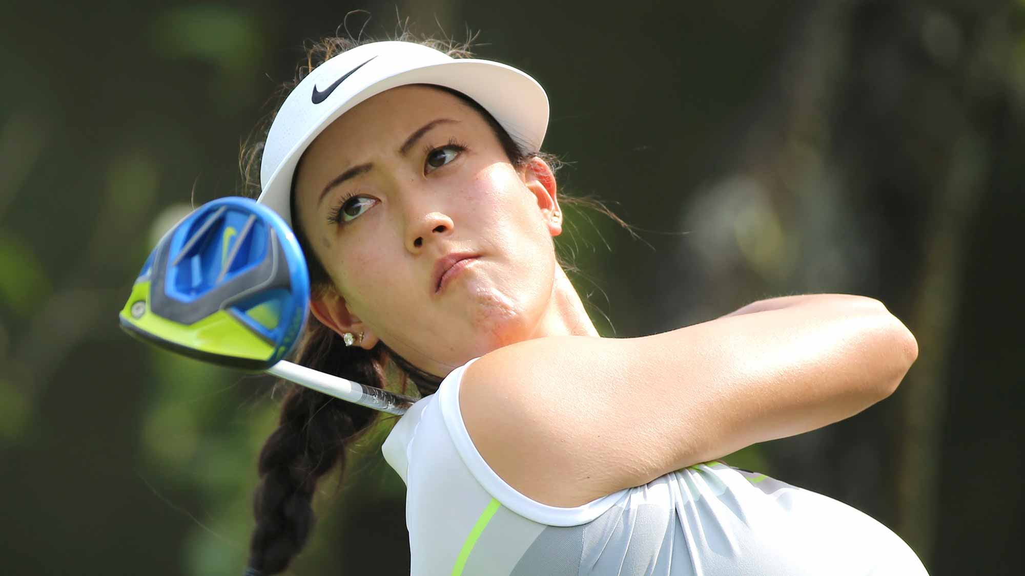 Michelle Wie Hits A Tee Shot During A Practice Round at Honda LPGA Thailand