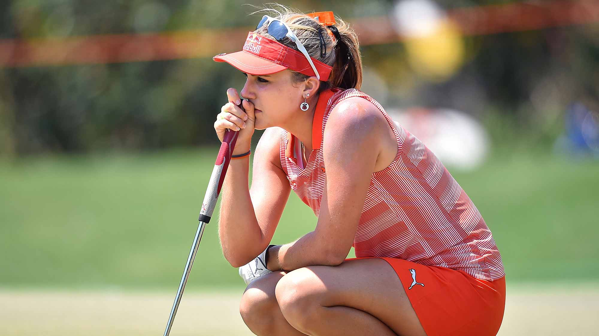 Lexi Thompson of the United States looks on during day two of the 2016 Honda LPGA Thailand at Siam Country Club