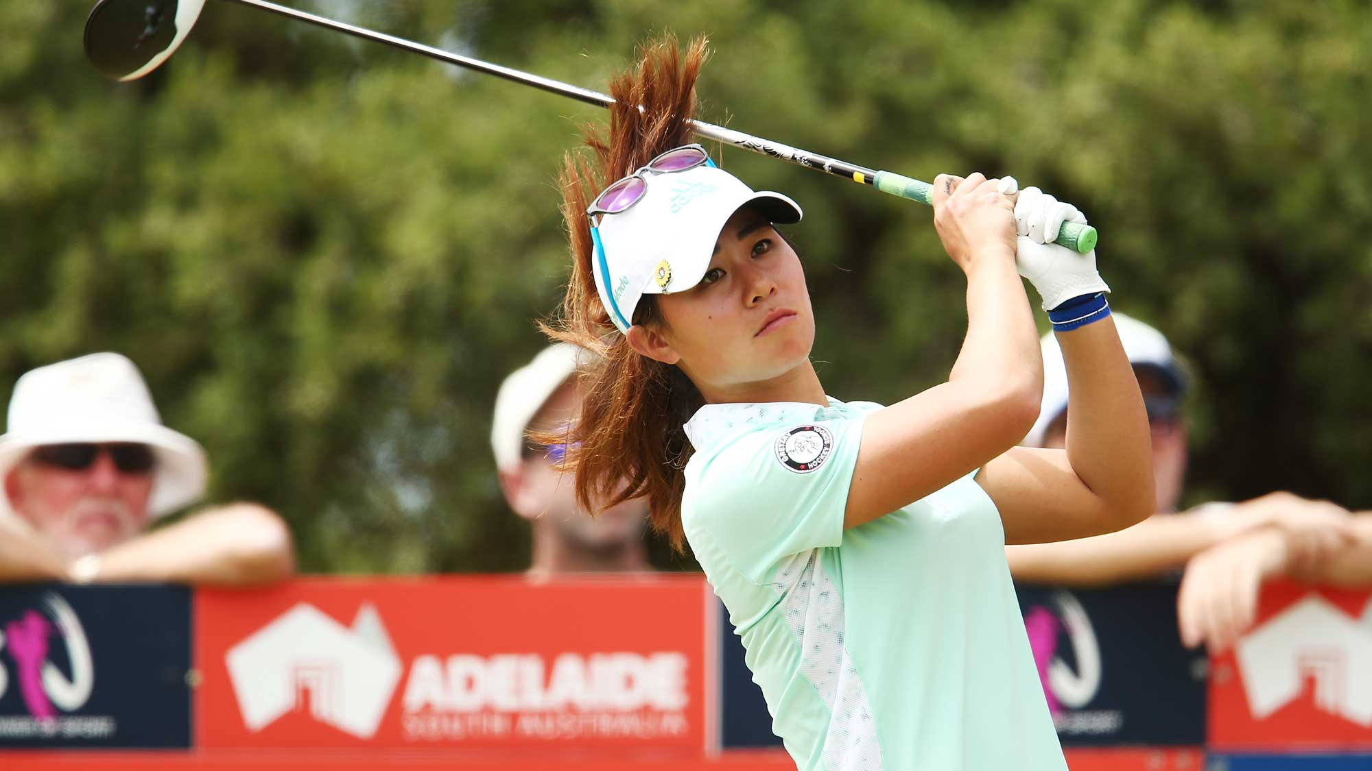 Danielle Kang of the USA competes during day four of the ISPS Handa Women's Australian Open
