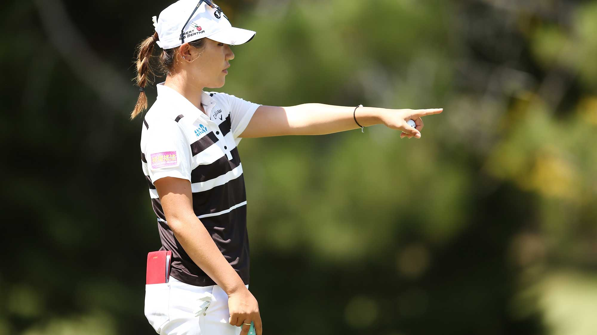 Lydia Ko of New Zealand competes during day four of the ISPS Handa Women's Australian Open