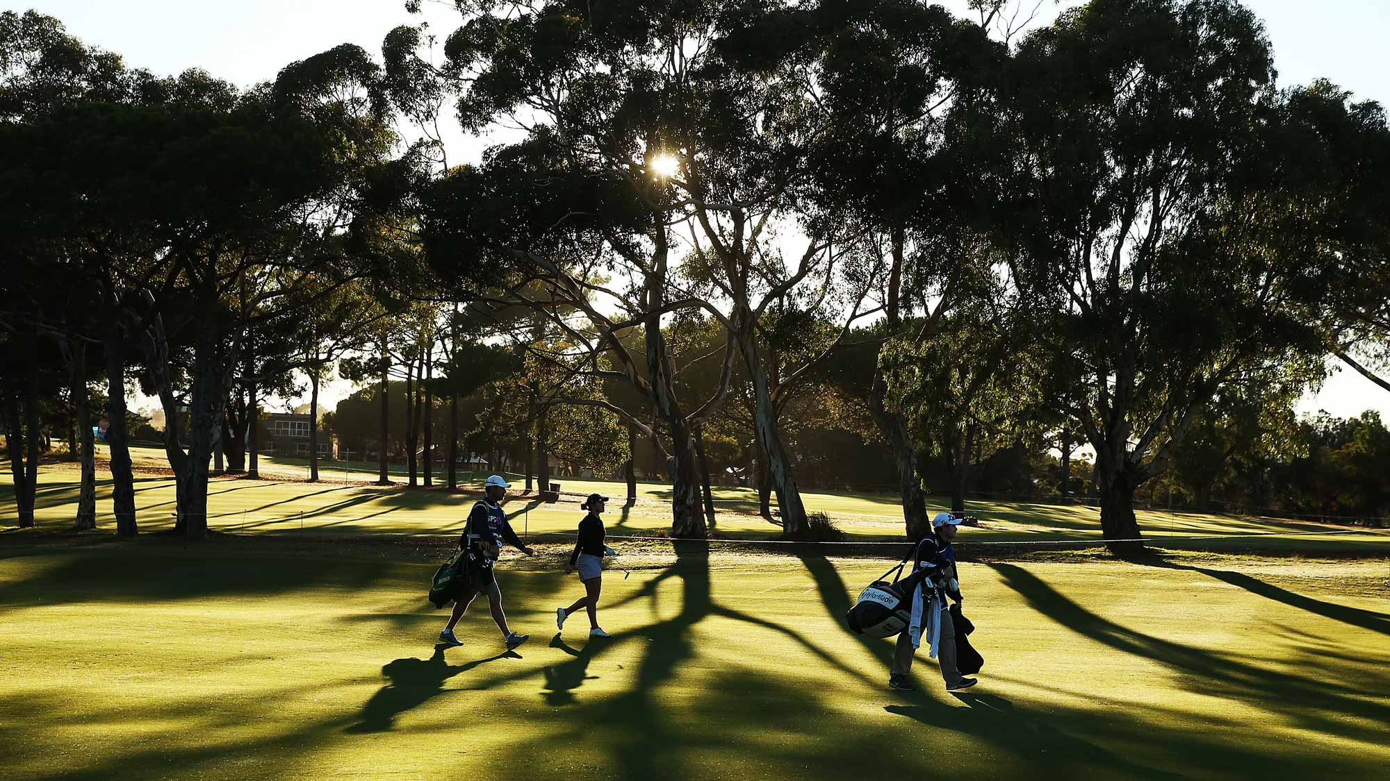 A general view during day one of the ISPS Handa Women's Australian Open at The Grange GC on February 18, 2016 in Adelaide, Australia