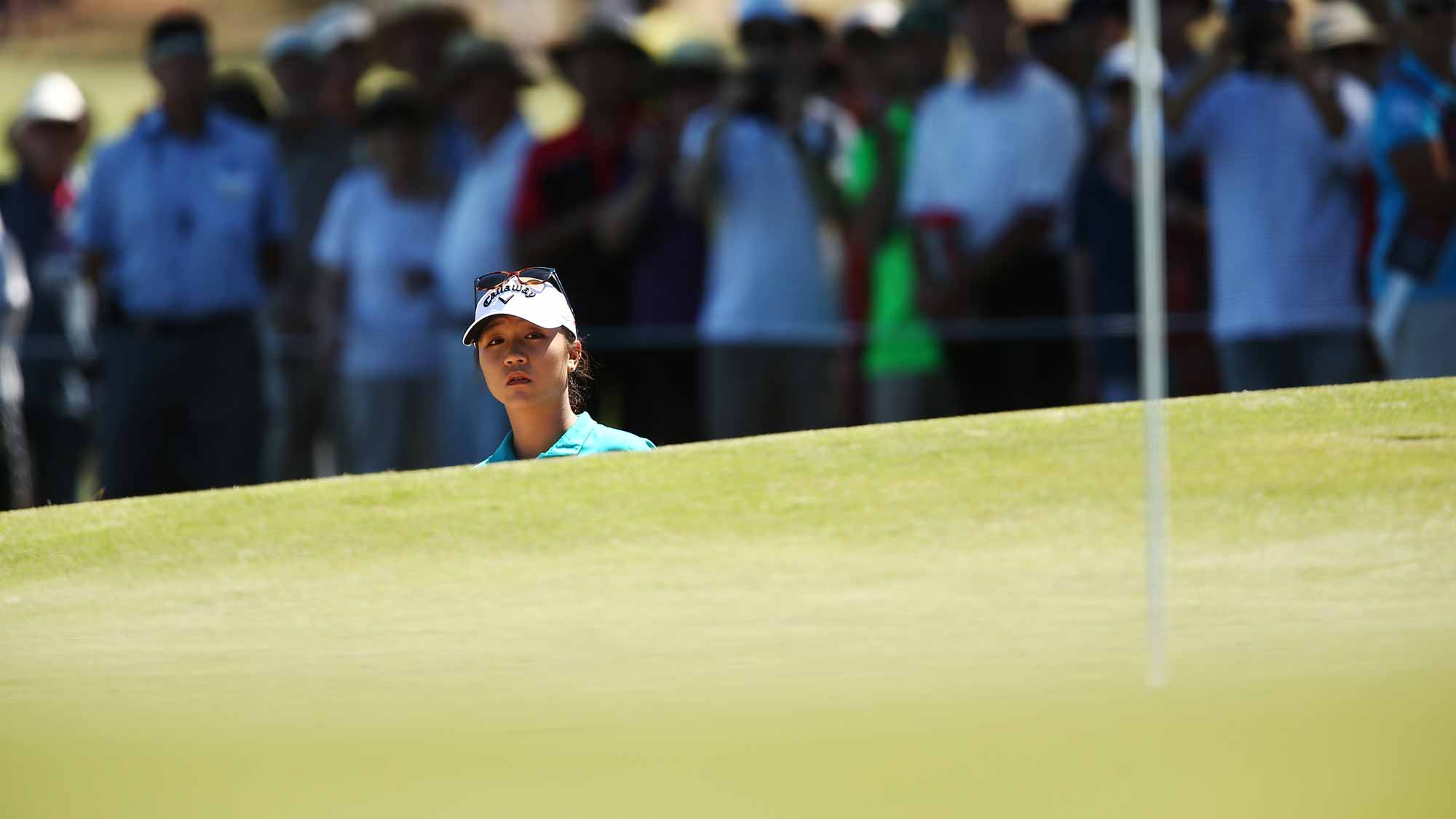 Lydia Ko of New Zealand competes during day one of the ISPS Handa Women's Australian Open