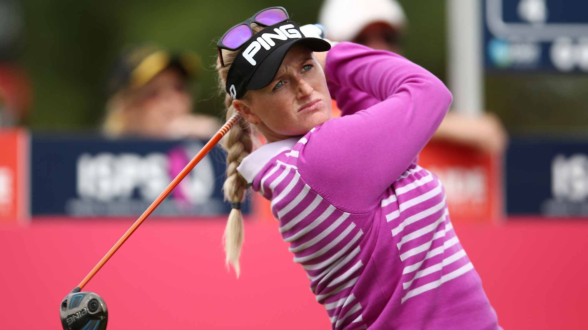 Holly Clyburn of England competes during day two of the ISPS Handa Women's Australian Ope