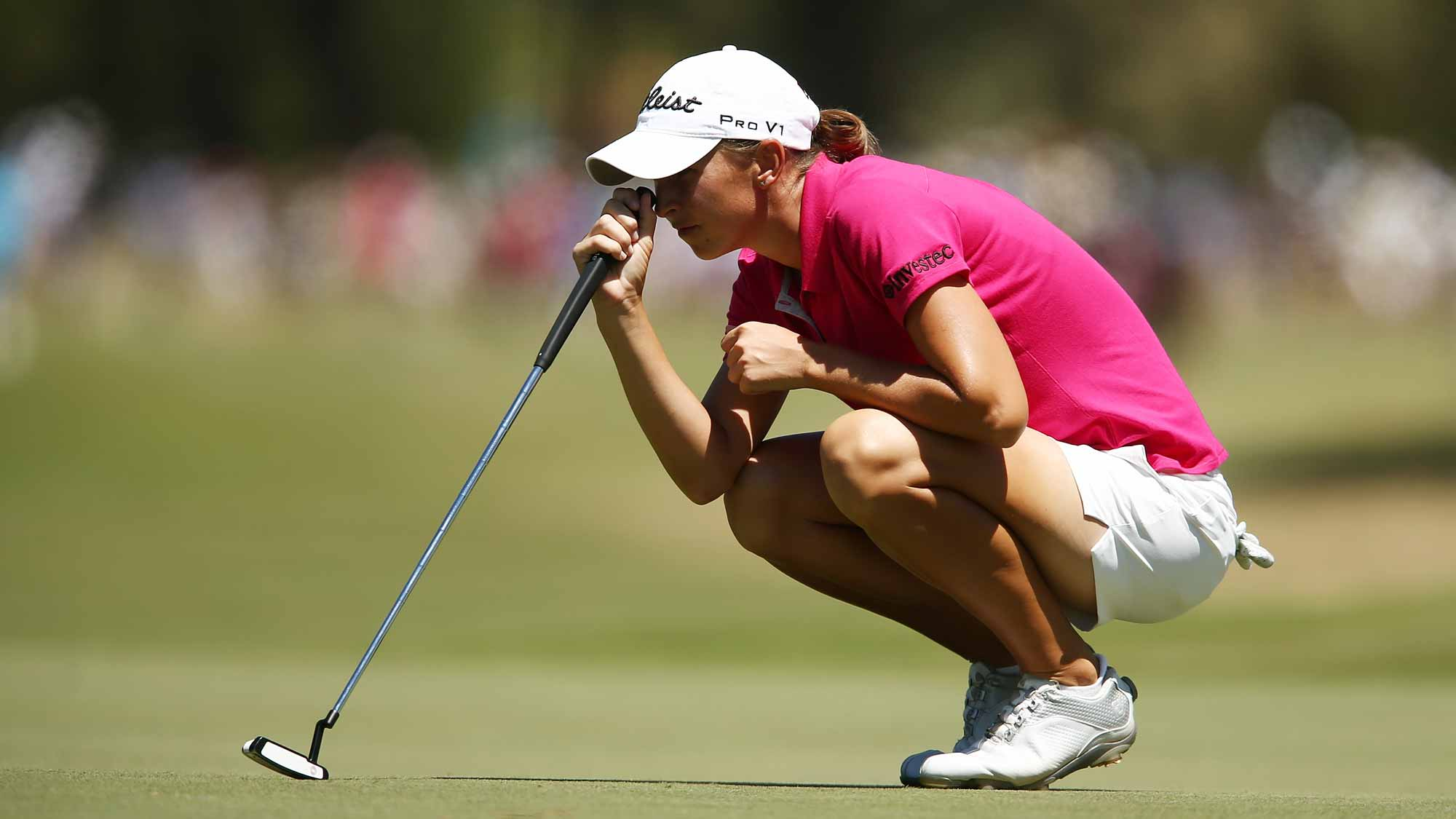 Bertine Strauss of South Africa competes during day three of the ISPS Handa Women's Australian Open