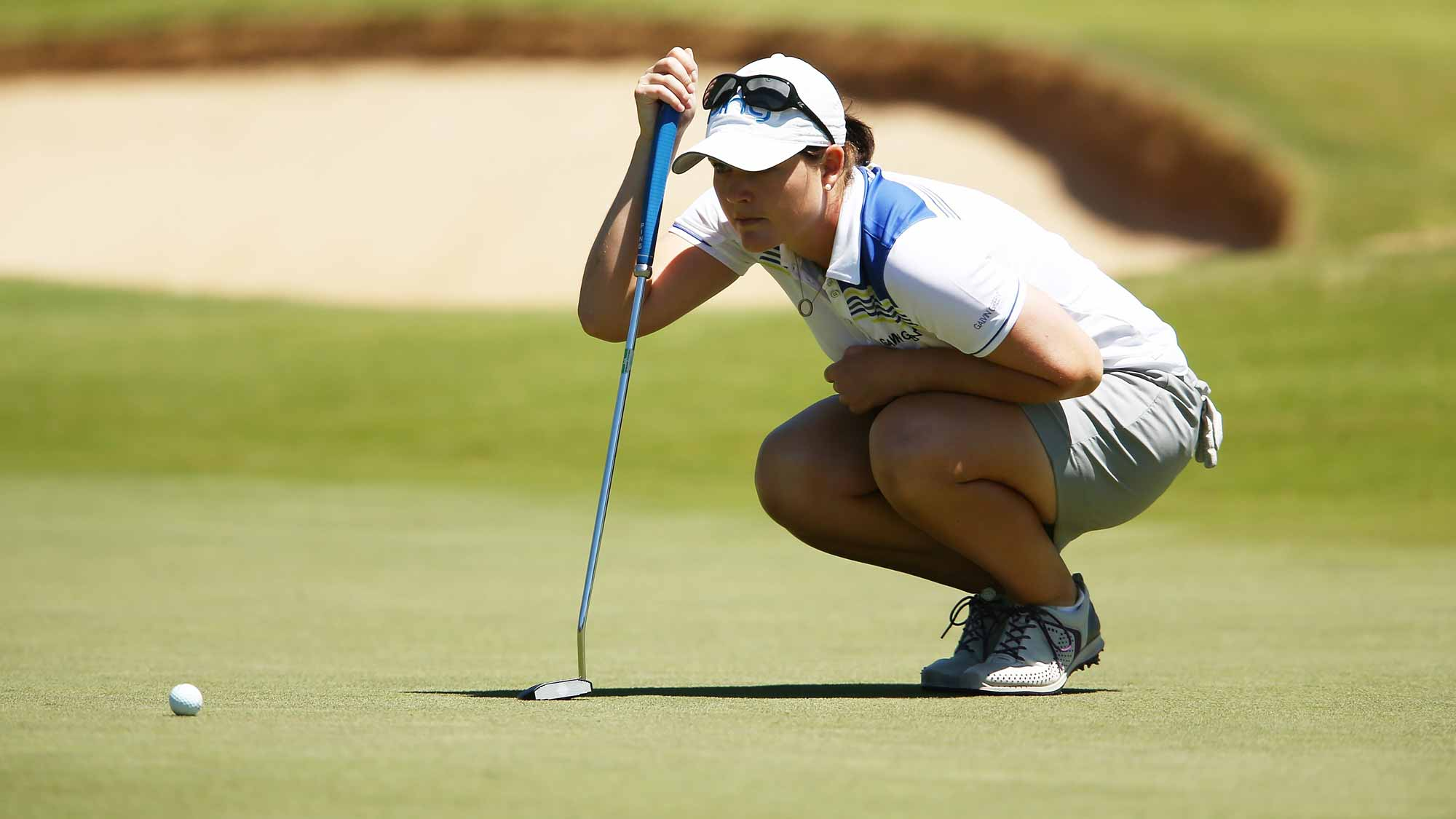 Caroline Masson of Germany competes during day three of the ISPS Handa Women's Australian Open