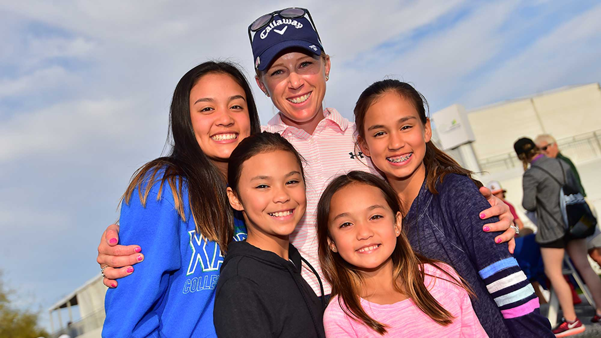 Morgan Pressel and Some Young Fans at the Founders Cup